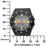 U.S. Polo Assn. Men's US9033 Analog-Digital Brown Dial Black Rubber Strap Watch