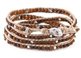 Opaque Brown Bead Wrap Bracelet - Wraps 4 to 5 Times Around Wrist