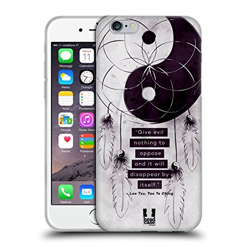 Head Case Designs Give Evil Nothing Collezione Yin E Yang Cover Morbida In Gel Per Apple iPhone 6 / 6s