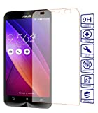 Tempered Glass Protector 9H for ZenFone 2 日本製強化ガラス 液晶保護フィルム 光沢タイプ 0.33mm 2.5Dラウンドエッジ 防指紋 耐衝撃 貼り直し可 スムースタッチ