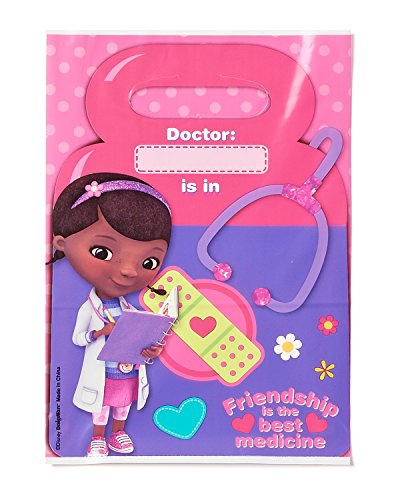 American Greetings Doc McStuffins Treat Bags (8-Pack), Party Supplies
