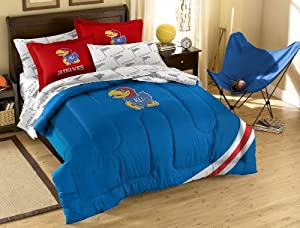 NCAA Kansas Jayhawks Full Bed in a Bag with Applique Comforter by Northwest