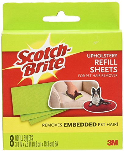 3M Upholstery Pet Hair Remover Refills, 8-sheet 3-Pack (Pet Hair Remover Scotch compare prices)