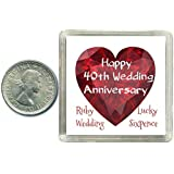 Lucky Sixpence Coin Ruby 40th Wedding Anniversary Gift, great present idea