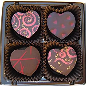 Hearts Desire - Chocolate Truffle Assortment - 4 Valentines Chocolates