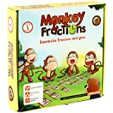 Fractions Card Game MONKEY FRACTIONS for Kids of Grade 1 and Above to Learn Fraction Skills