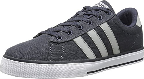 Adidas NEO Men's SE Daily Vulc Lifestyle Skateboarding Shoe,Navy/Clear Onix Grey/White,12 M US