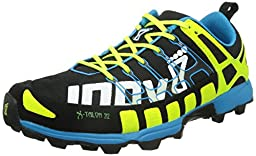 Inov-8 X-Talon 212 Trail Unisex Running Shoe,Black/Yellow/Blue,12.5 M/14 W