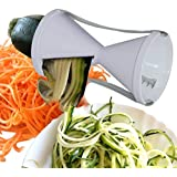 Attmu Spiral Vegetable Slicer - The best Stainless Steel Spiral Slicer - Special Japanese Blades Vegetable Cutter - Highly Quality Spiralizer - Includes a Cleaning Brush