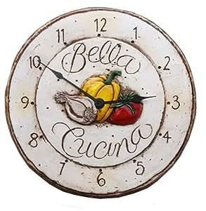 Italian Bella Cucina Kitchen Clock Home Kitchen