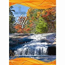 Banner-I Am The Life-Fall (2\' x 3\') (Indoor)