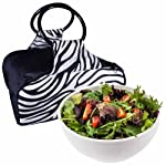 10 cup Chilled Serving Bowl with Insulated Travel Bag (Zebra)