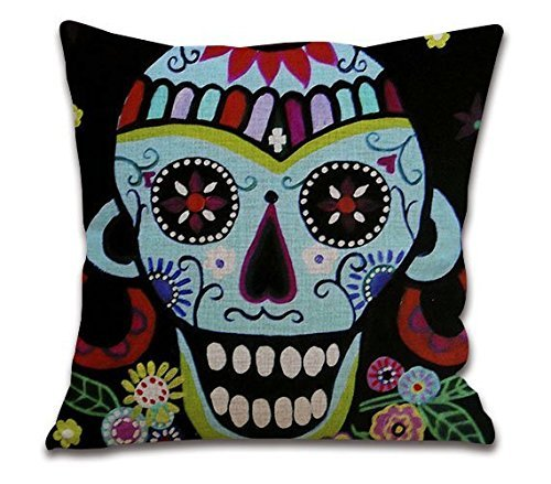 Connie Frank Skull Design diy Square Decorativen Cushion Cover Throw Pillowcase 20x20inch