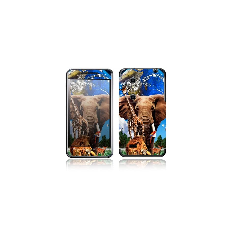 Peace on Earth Design Decorative Skin Cover Decal Sticker for LG Optimus 3D P920 Cell Phone