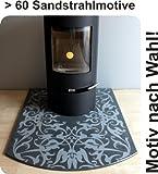 Funkenschutzplatte-Bodenplatte-f-Kaminofen-Pelletofen-Segmentbogen-Granit-F09S-100-x-120-cm-Motiv-nach-Wahl