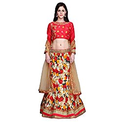 Bhelpuri Women Multi Colour Jute Silk Lehenga Choli