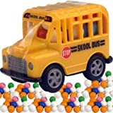 Candy Filled Toy School Bus - 12 Ct. Case