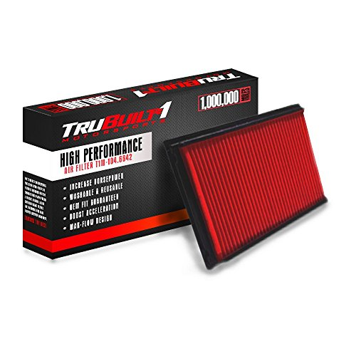 T1M-104.6642 (compare to K&N 33-2031-2) Direct Replacement Panel Air Filter - High Performance Filter - Boosts Horsepower!