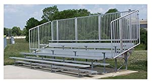 5 Row 15' Vertical Picket Bleacher 27'/Original by Ssg / Bsn