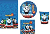 THOMAS THE TANK ENGINE BIRTHDAY PARTY TABLEWARE PACK PLATES NAPKINS CUPS TABLECOVER