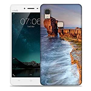 Snoogg Brown Mountain Designer Protective Phone Back Case Cover For Vivo V3 Max