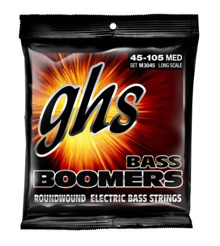 Ghs Strings Electric Bass Boomer Set (Medium Nickel Steel, 4-String, Long Scale)