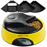 Andrew James 4 Day / Meal Automatic Pet Feeder / Bowl with voice recorder Includes 2 Volume Reducers + 1 Adapter Trayby Andrew James