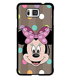 PrintDhaba Minnie Mouse D-1445 Back Case Cover for SAMSUNG GALAXY ALPHA (Multi-Coloured)