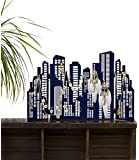 SIX moderner Skyline, Citylights Schmuckbaum in dunkelblau (244-085)