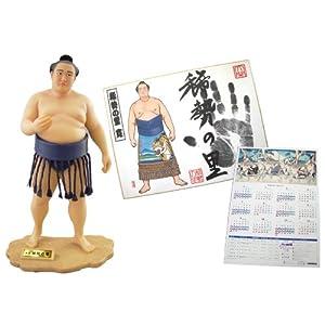 【相撲グッズ】 力士フィギュア【稀勢の里】 姿絵手形色紙(稀勢の里)2014年度カレンダー1枚  Sumo Goods