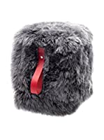 Royal Dream Puff Sheepskin lana (Gris/Rojo)