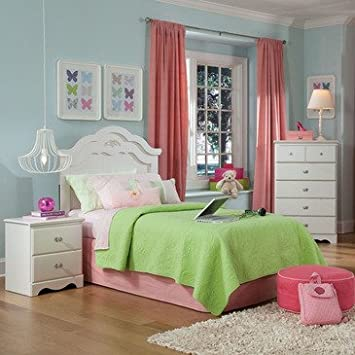 Standard Furniture Daphne 3 Piece Headboard Bedroom Set in White