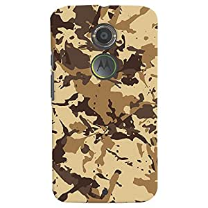 ColourCrust Motorola Moto X2 Mobile Phone Back Cover With Millitary Pattern Style - Durable Matte Finish Hard Plastic Slim Case