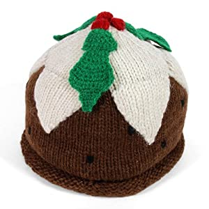 Hand Knitted Christmas Pudding Hat 100% Wool Fair Trade: Amazon.co.uk: Garden...
