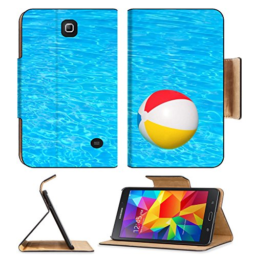 Flip Pu Leather Wallet Case Samsung Galaxy Tab 4 7.0 Inch MSD Premium Inflatable ball floating in swimming pool IMAGE 30548029