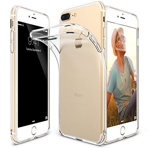 Funda iPhone 7 Plus, Ringke [AIR] Sin peso como el aire, del caso extremo ligero ultra-delgado suave transparente arañazos TPU flexible resistente protectora para Apple iPhone 7 Plus 2016 - Crystal View