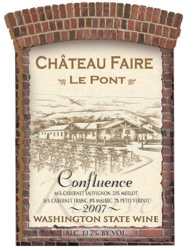 "2007 Chateau Faire Le Pont ""Confluence"" Washington State Red Blend 750 Ml"