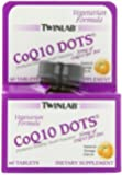 Twinlab CoQ10 Dots, Natural Orange Flavor, 60 Count Tablets