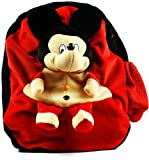 #4: Richy Toys Mickey Mouse Cute Teddy Soft Toy School Bag For Kids, Travelling Bag, Carry Bag, Picnic B