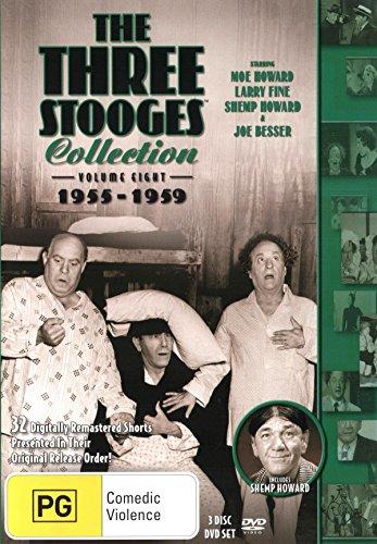DVD : Three Stooges: Volume 8 - 1955-1959 (3 Discos)