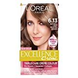 L'Oreal Paris Excellence Hair Colour Kit, Natural Light Frosted Brown Number 6.13 - Pack of 3