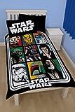 Star Wars Force Einzelbettbezug Set und Kissenbezug - Bettwäsche