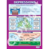 Weather Depressions Geography Educational Wall ChartPoster in laminated paper A1 850mm x 594mm