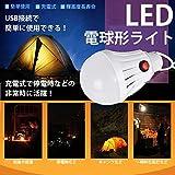 STARDUST 充電式 電球形 USB LEDライト キャンプ アウトドア デスクライト 停電 地震 震災 緊急時 SD-JG-CDQP