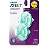 Philips Avent Soothie, Green, 0-3 Months