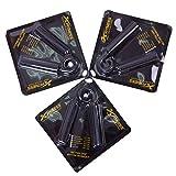 Xfitness Hand Grips Heavy Grip Power Grippers 3 Grip Bars 100-150-200lbs