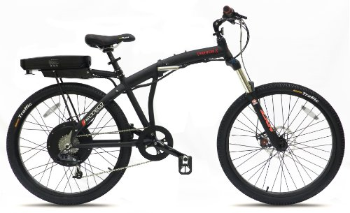 Prodeco V3 Phantom X Speed Folding Electric Bicycle, Matte Black, 26-Inch/One Size