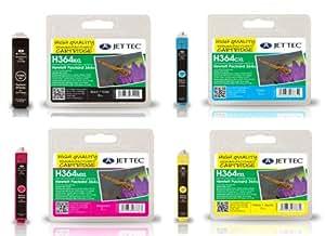 Jet Tec Compatible HP 364 XL Black, Cyan, Magenta & Yellow Printer Ink Cartridge Set