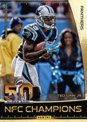 2016 Panini Super Bowl 50 Ted Ginn Jr. Carolina Panthers Football Card-MINT
