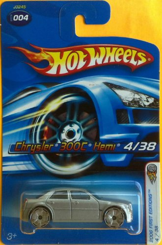 Mattel Hot Wheels 2006 1:64 Scale Silver Chrysler 300C Hemi 4/38 Die Cast Car #004 - 1